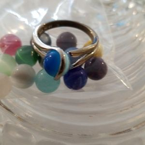 Jewelry - 14 Stone Sterling Silver Interchangeable Ring